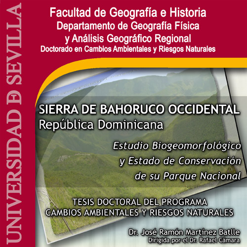 Portada tesis doctoral Sierra de Bahoruco Occidental