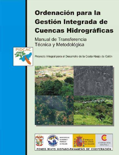 """Portada del manual del curso """"Transferencia Técnica y Metodológica en Ordenación para la Gestión Integrada de Cuencas Hidrográficas"""""""