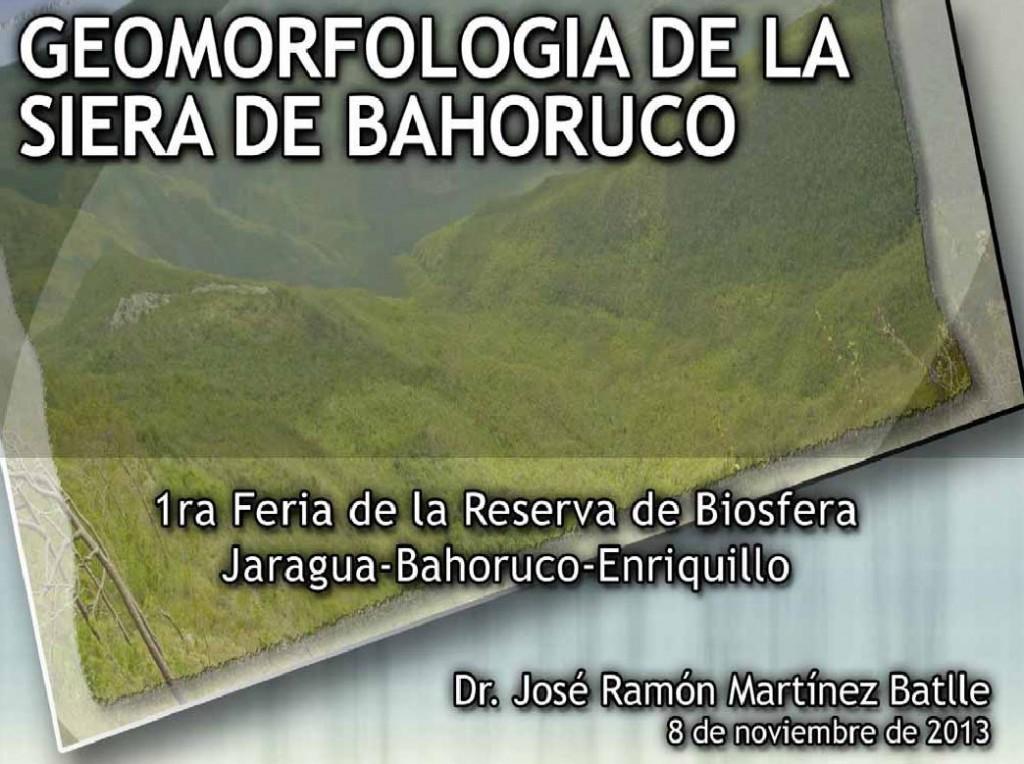 Portada de la presentación realizada en la primera Feria de la Reserva de Biosfera Jaragua-Bahoruco-Enriquillo