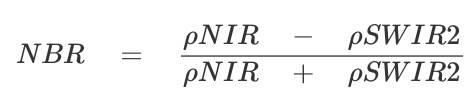 Fórmula de la tasa de quema normalizada (Fuente: Terradue, 2014)