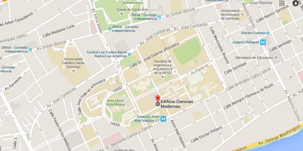 Mapa del edificio Ciencias Modernas (CM), UASD
