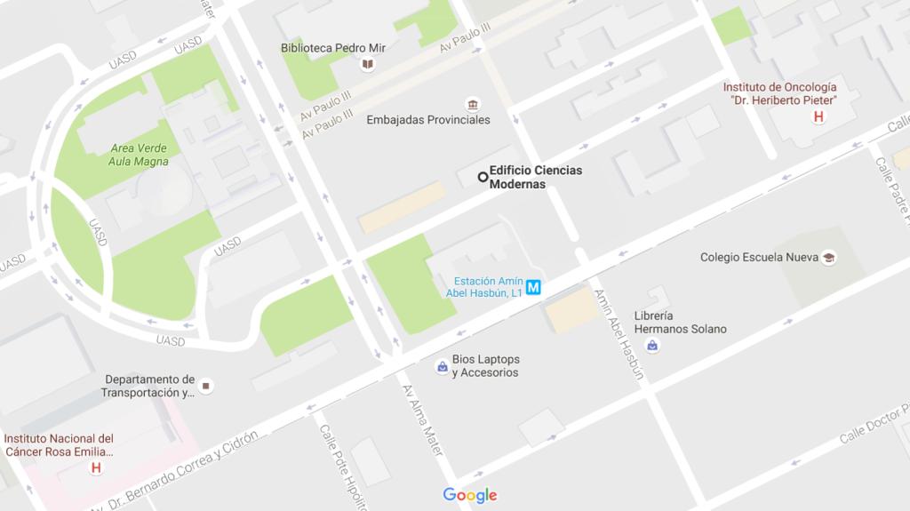 Localización del aula CM-103
